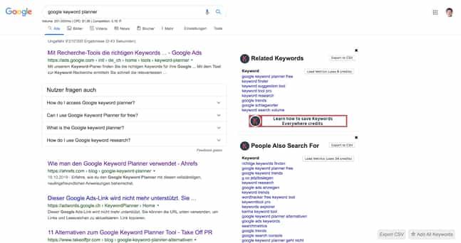 Blogartikel Google Keyword Planner Text-1