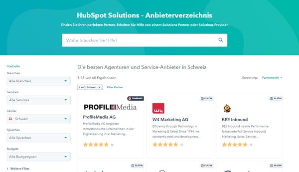 HubSpot-Verzeichnis