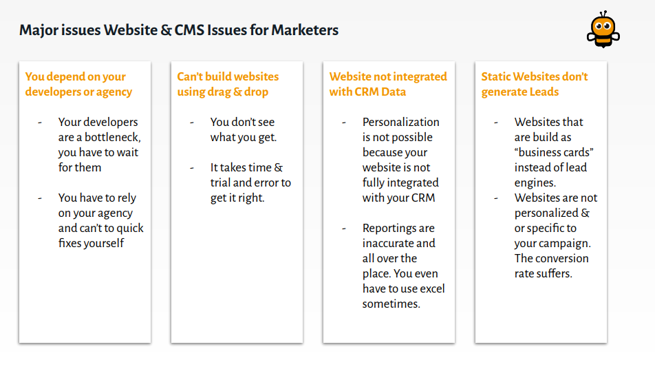 major issues for marketers table