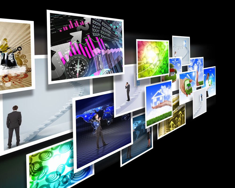 Colour images flow representing modern media technology-1